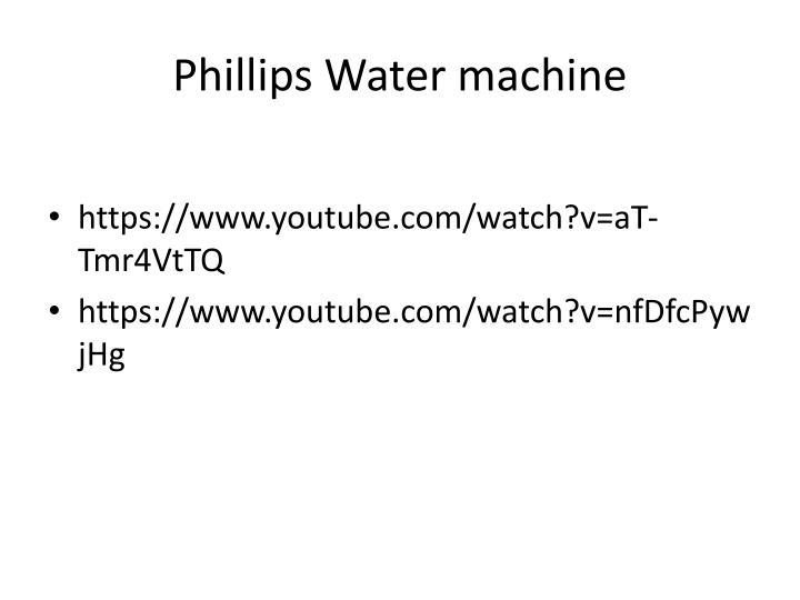 Phillips Water machine