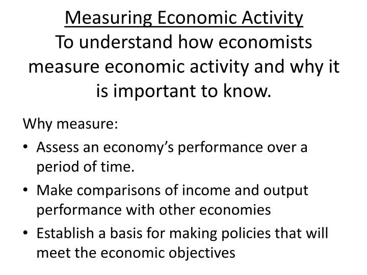 Measuring Economic Activity