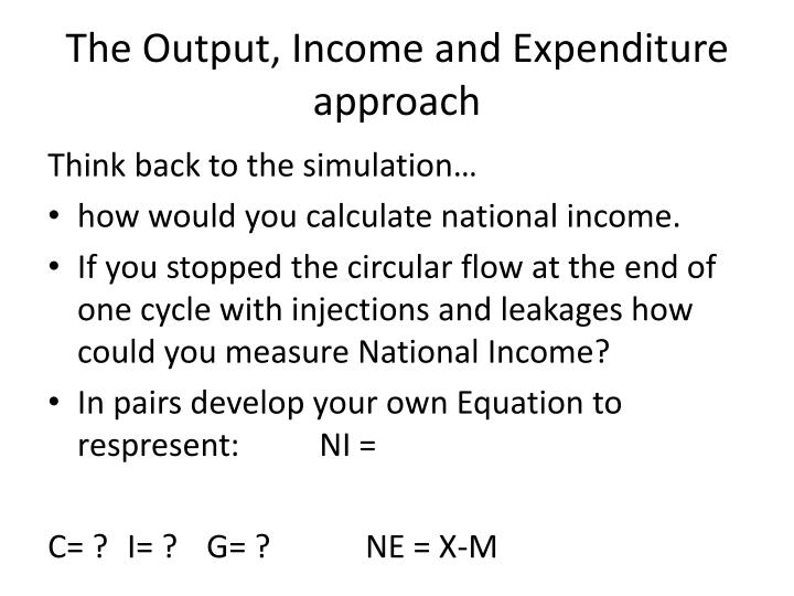 The Output, Income and Expenditure approach