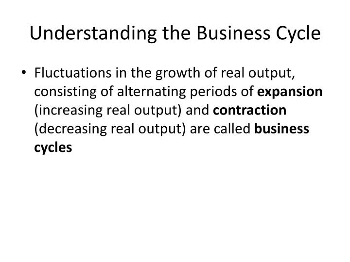 Understanding the Business Cycle
