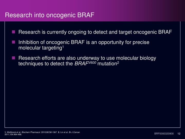 Research into oncogenic BRAF