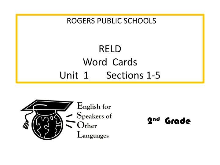 Reld word cards unit 1 sections 1 5