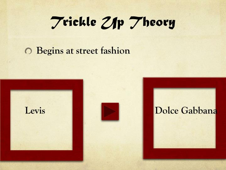 Trickle Up Theory
