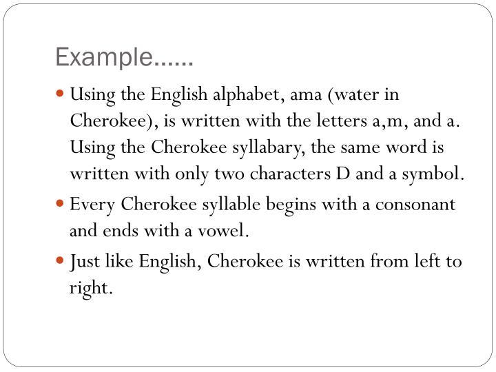 Example……