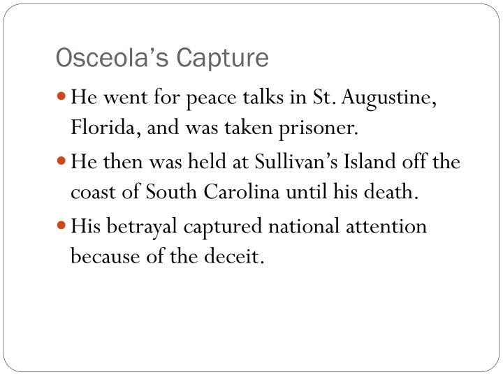 Osceola's Capture