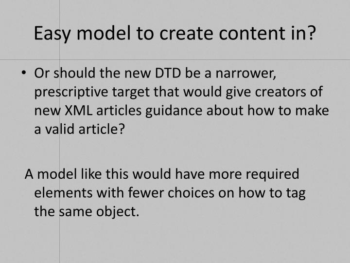 Easy model to create content in?
