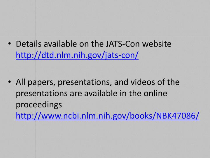 Details available on the JATS-Con website