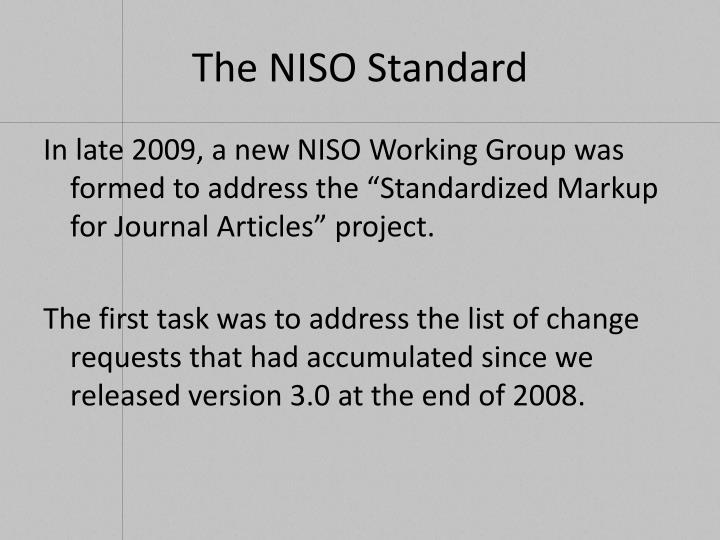 The NISO Standard