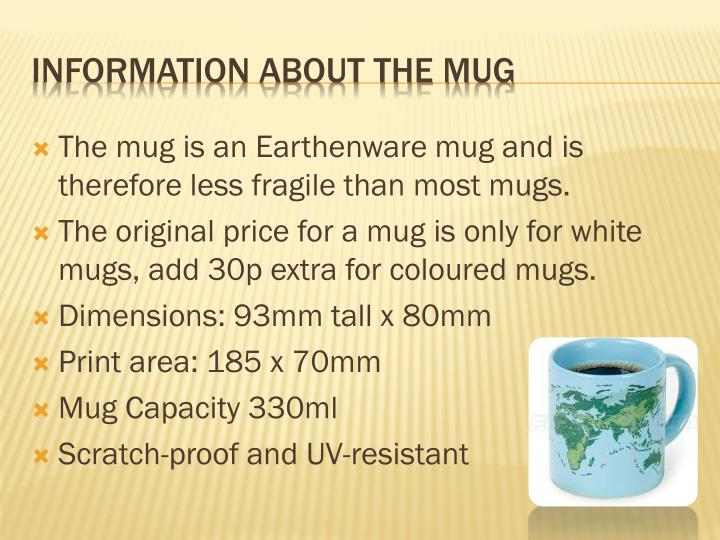 Information about the mug
