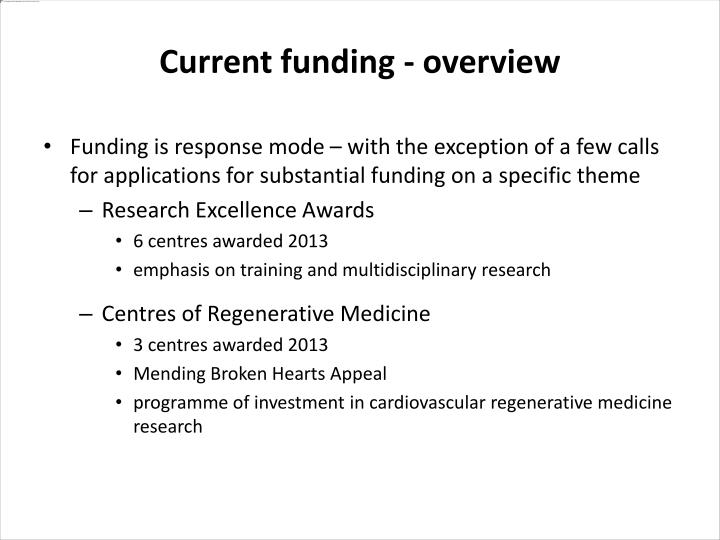 Funding is response mode – with the exception of a few calls for applications for substantial funding on a specific theme