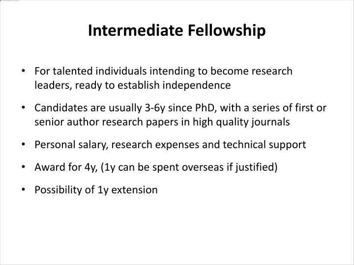 For talented individuals intending to become research leaders, ready to establish independence