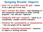 designing broader impacts