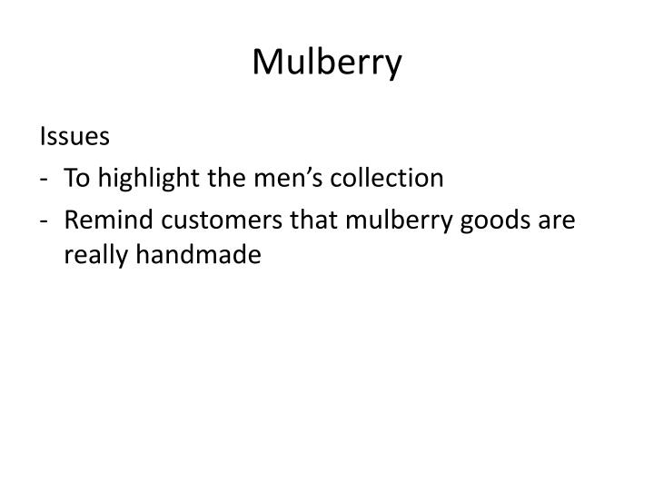 mulberry n.