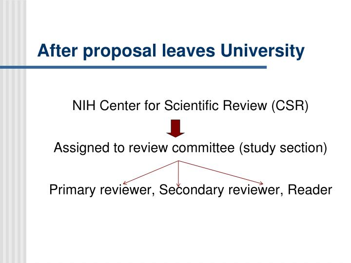 After proposal leaves University