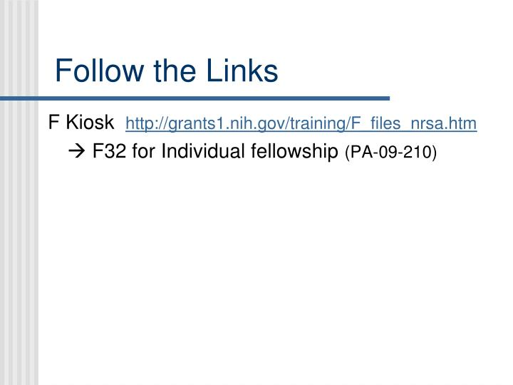 Follow the Links
