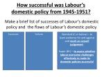 how successful was labour s domestic policy from 1945 19512