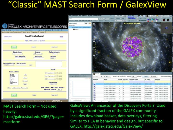 """""""Classic"""" MAST Search Form /"""