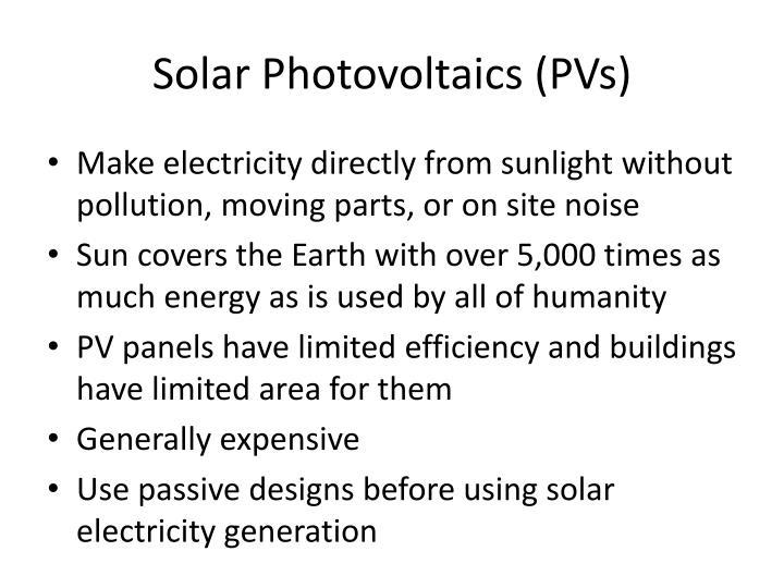 Solar photovoltaics pvs