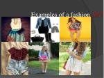 examples of a fashion do
