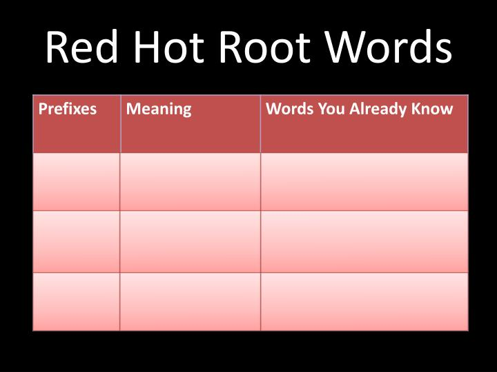 Red hot root words1