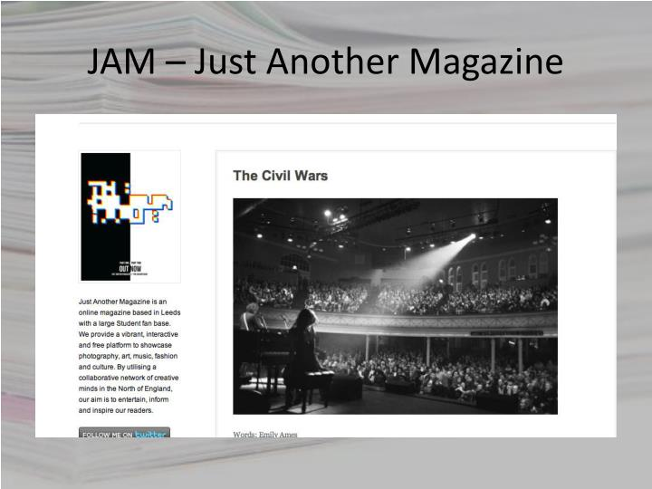 JAM – Just Another Magazine