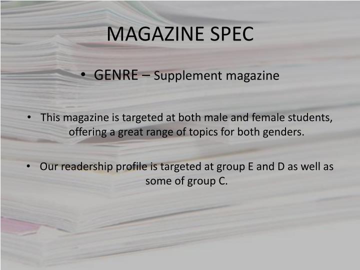 Magazine spec