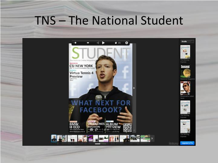 TNS – The National Student