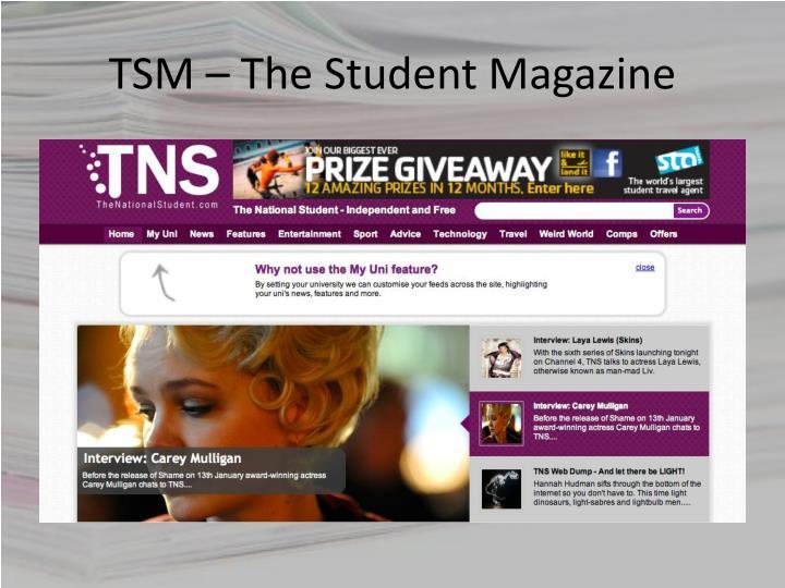 TSM – The Student Magazine