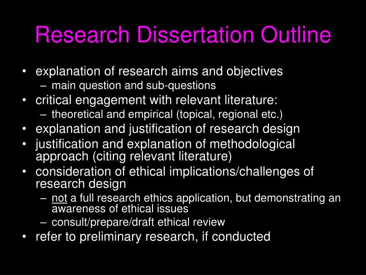 Research Dissertation Outline