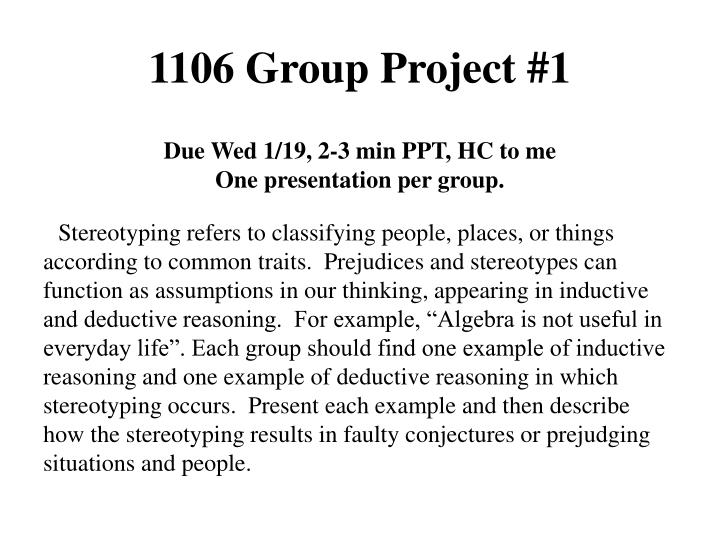 1106 group project 1