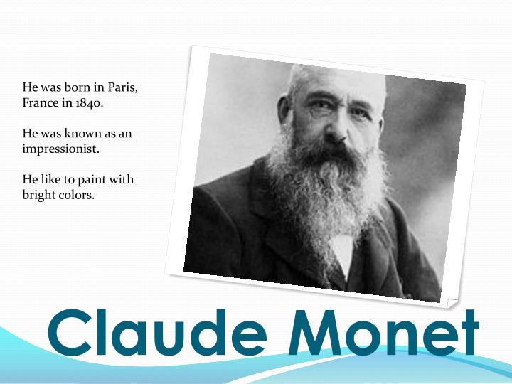 a biography of claude monet born in paris france