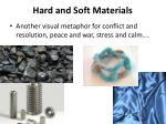 hard and soft materials