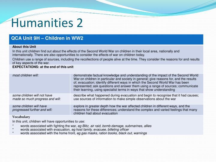 Humanities 2