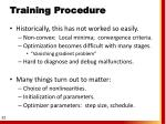 training procedure1