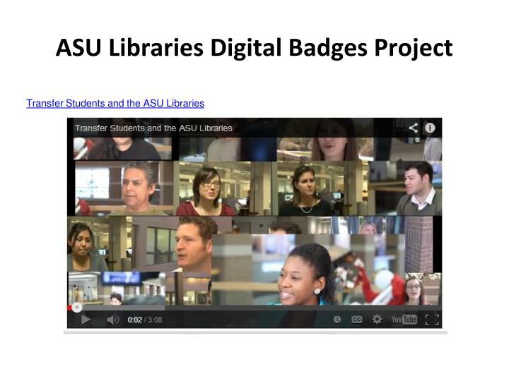 ASU Libraries Digital Badges Project
