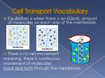 cell transport vocabulary2
