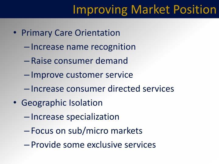 Improving Market Position