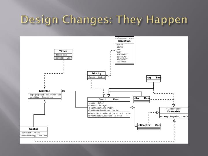 Design changes they happen