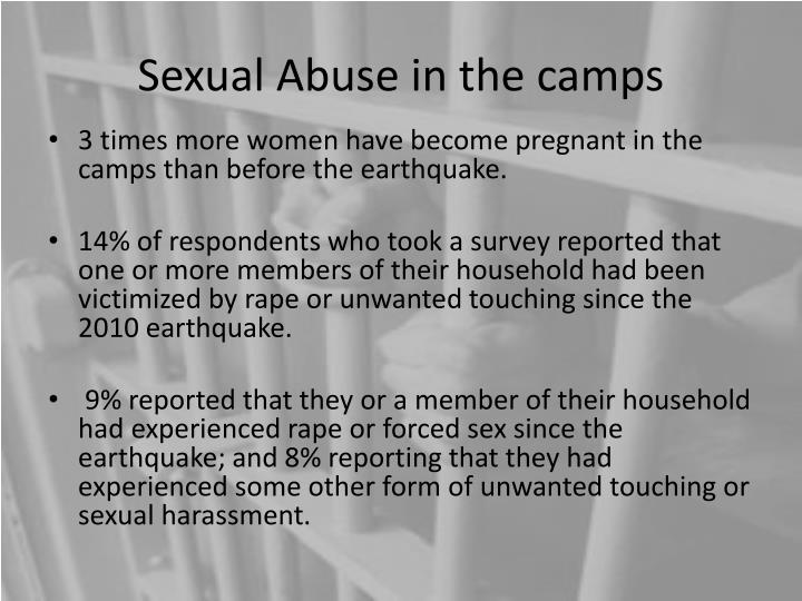 Sexual Abuse in the camps