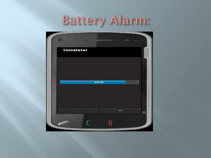Battery Alarm: