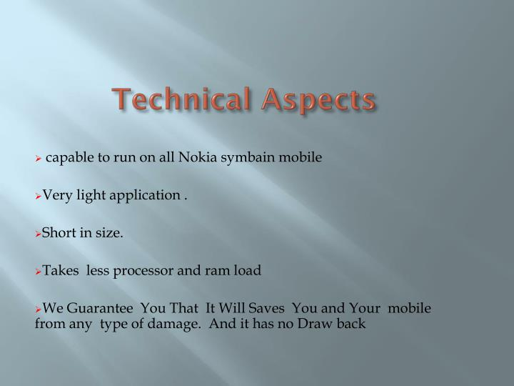 Technical Aspects