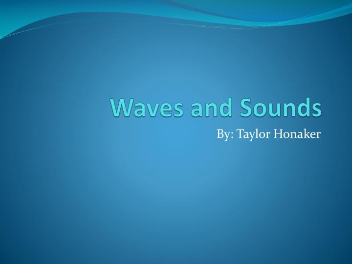 waves and sounds n.