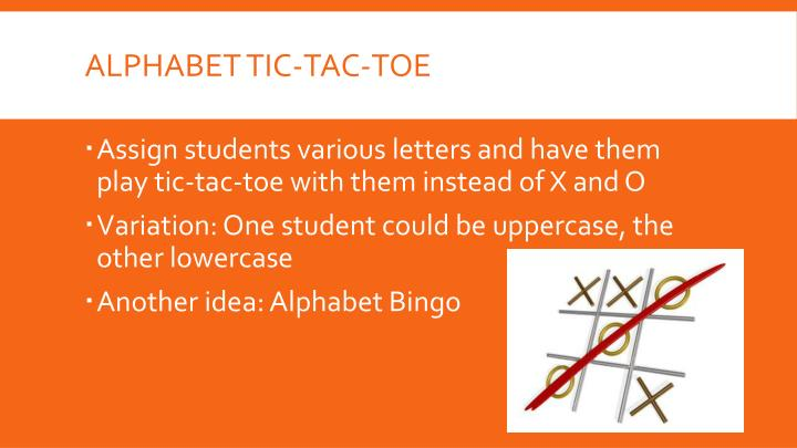 Alphabet tic-tac-toe