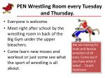 open wrestling room every tuesday and thursday