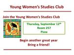 young women s studies club