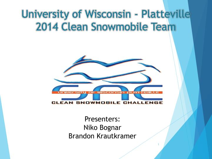 university of wisconsin platteville 2014 clean snowmobile team