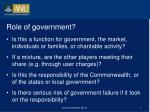 role of government