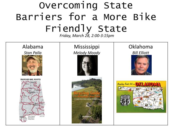 overcoming state barriers for a more bike friendly state n.