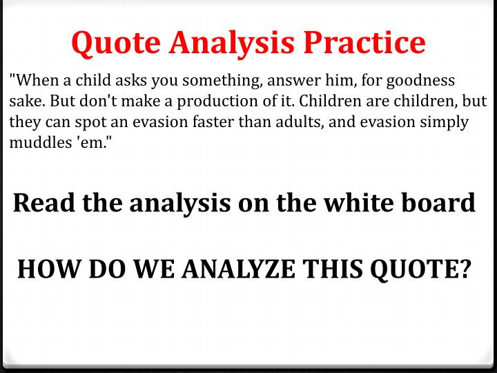 Quote Analysis Practice