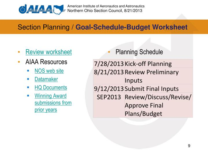 Section Planning /